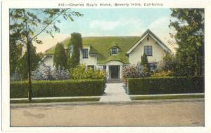 Charles Ray Home in Beverly Hills, California, CA, White Border