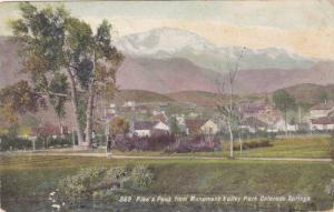 Pike's Peak from Monument Valley Park, Colorado Springs,Colorado,PU-1908