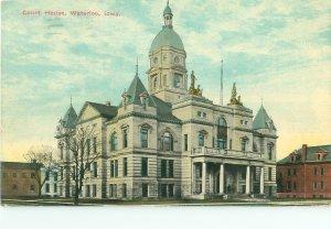 Waterloo Iowa IA Court House 1910 Postcard
