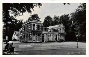 CPA Doorn Groet uit Doorn, Gemeentehuis NETHERLANDS (728795)