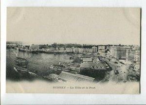 3144693 AUSTRALIA SYDNEY La Ville et le Port Vintage postcard