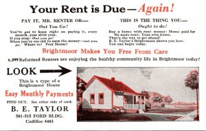 Advertising B E Taylor Brightmoor Homes Detroit Michigan