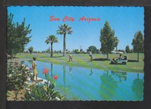 Golfing,Sun City,AZ Postcard