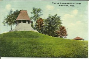 Worcester, Mass., View Of Greenwood Park Tower