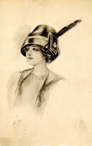 Lady with Feather in Hat
