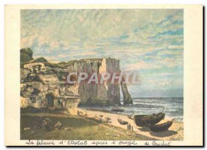 Modern Postcard Gustave Courbet The cliffs of Etretat after the storm Louvre ...