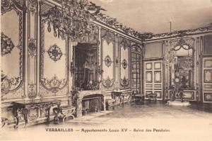 Vintage Postcard VERSAILLES Appartements Louis XV Salon des Pendules
