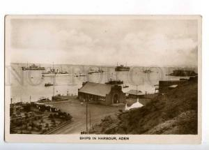 232816 Yemen ADEN Ships in harbour Vintage photo postcard