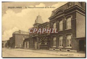 Old Postcard Erquelinnes La Maison Communale And Schools