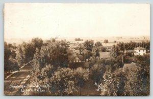 Chadwick Illinois~Birdseye View Down Dirt Road~Homes~M-L Photo~1913 RPPC