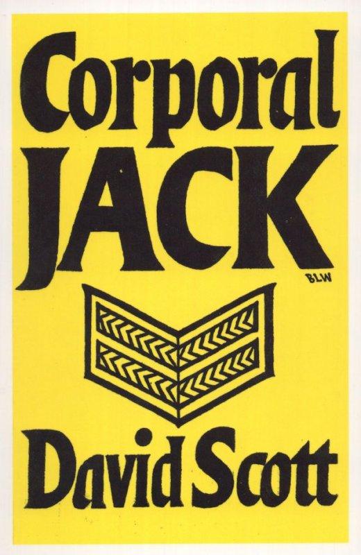 Corporal Jack David Scott 1943 Book Postcard