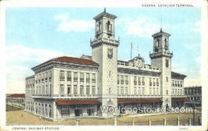 Estacion Terminal, Central Railway Station Habana Cuba, Republica De Cuba Wri...