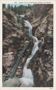 Colorado Colorado Springs Seven Falls Cheyenne Canon 1936 Curteich