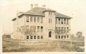 1910 High School Belgrade Minnesota RPPC Real photo postcard 8959
