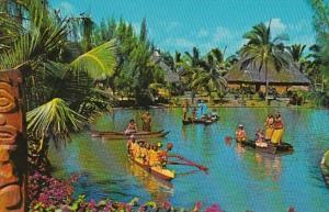 Hawaii Oahu Laie Polynesian Culture Center Grand Canoe Pageant