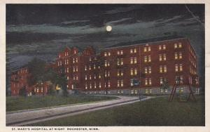 Minnesota Rochester St Mary's Hospital At Night