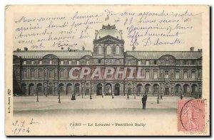 Old Postcard Paris Louvre Pavillon Sully