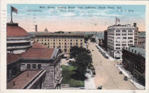Indiana South Bend Main Street Looking NOrth From Jefferson 1928