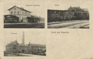 germany, KAPELLEN, Bahnhof Mühle Brauerei, Railway Station, Brewery (1910s)