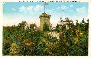 VT - Burlington. Ethan Allen Tower (hole punched in corner)