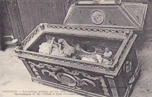 Sarcophagus In The Cathedral From Germans Profaned, Soissons (Aisne), France,...