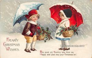 Christmas  Ellen H Clapsaddle International Art Publishing Co. Postal Used Un...