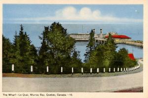 Canada - Quebec, Murray Bay. The Wharf
