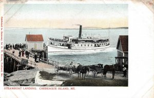 LPS01 Chebeague Island Maine Steamboat Landing Steamer Private Mailing Card