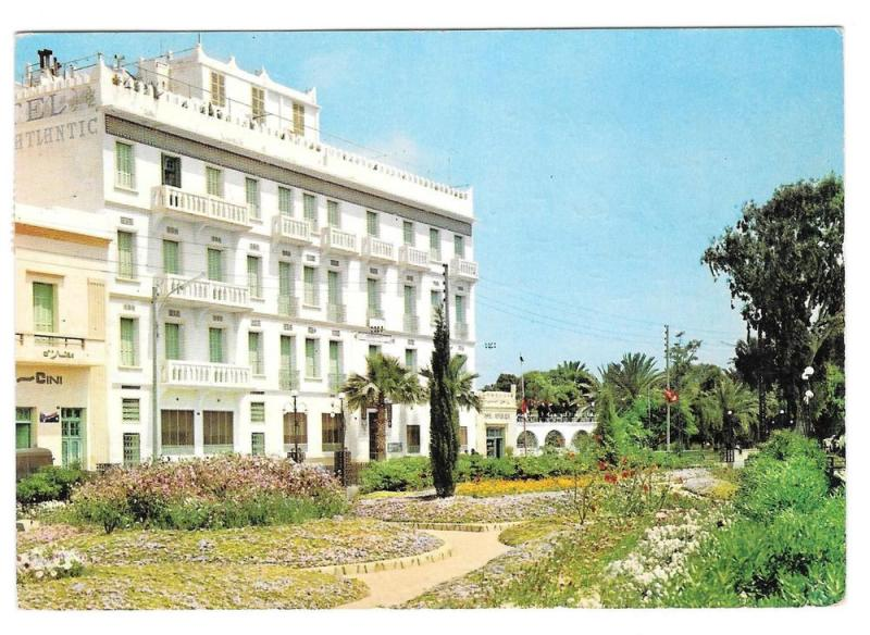 Tunisia Gabes Hotel Atlantic 1965 Vintage Postcard 4X6