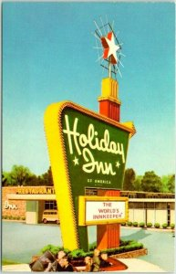 New Stanton, Pennsylvania Postcard HOLIDAY INN Hotel / Route 119 Roadside c1960s