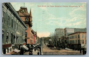 SCHENECTADY NY STATE STREET 1912 ANTIQUE POSTCARD
