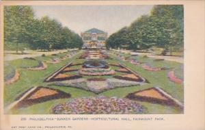 Pennsylvania Philadelphia Sunken Gardens Horticul Hall Fairmount Park