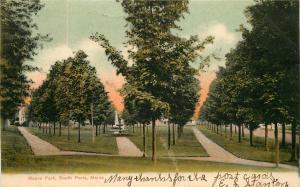 SOUTH PARIS MAINE MOORE PARK UDB POSTCARD c1910