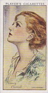 Players Cigarette Cards Film Stars No 10 Nancy Carroll