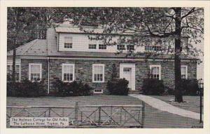 Pennsylvania Topton The Heilman Cottage For Old Folks The Lutheran Home