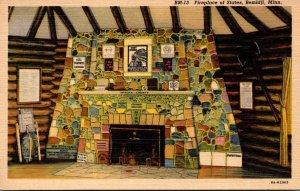 Minnesota Bemidji Fireplace Of Sates Curteich
