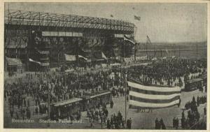 netherlands, ROTTERDAM, Stadion Feyenoord De Kuip, Tram (1940s) Stadium Postcard