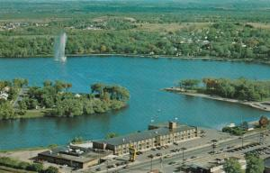 PETERSBOROUGH, Ontario, Canada, 1940-60s; Holiday Inn, Aerial View