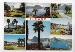 LUGANO, Switzerland, multi view, used Postcard