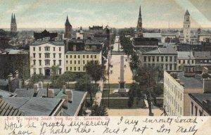 SAVANNAH, Georgia, 1907; Bull St. looking South from Bay St.