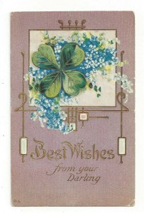 Postcard Best Wishes From Your Darling Embossed Greeting Standard View Card