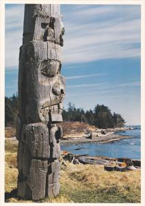 The last of many Haida totem poles,  Skidegate Village,  Skidegate, Queen Cha...