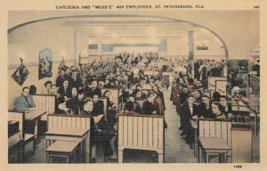 ST. PETERSBURG, Florida, 1930-1940s; Cafeteria and WEBB'S 400 Employees
