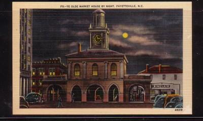 North Carolina colour PC Market House Fayetteville night