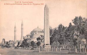 Turkey Old Vintage Antique Post Card L'Obelisque de Theodose Constantino...