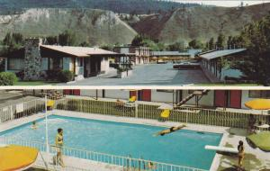 Swimming Pool and Diving Board, El Camino Motel, Kamloops, British Columbia, ...