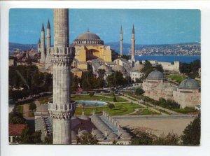 422081 TURKEY to SWITZERLAND 1971 year ISTANBUL Siant Sophia mosque RPPC