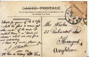 Family History Postcard - Weston - Parliament Street - Harrogate - Ref 2156A
