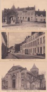 Wimille Pensionnat L'Avenue 3x Antique French Postcard s