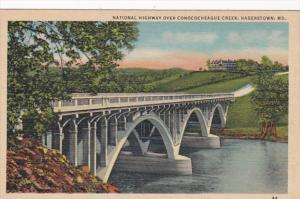 Maryland Hagerstown National Highway Bridge Over Conococheague Creek